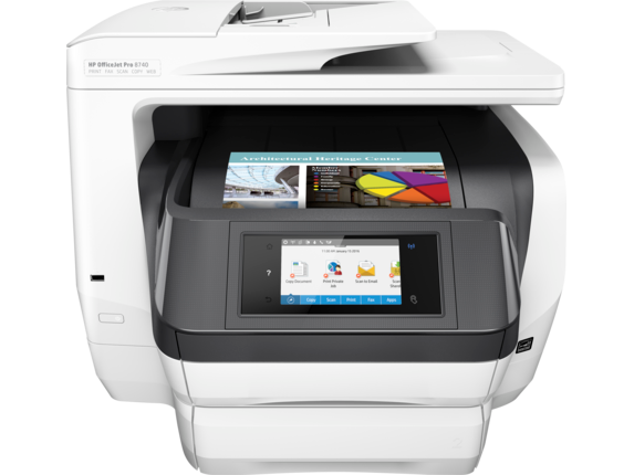 HP OfficeJet Pro 8740 All-in-One Printer - Center