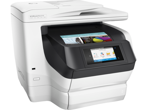 HP OfficeJet Pro 8740 All-in-One Printer - Right