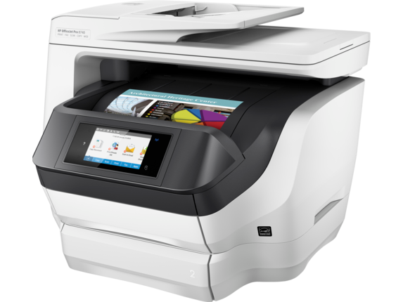 HP OfficeJet Pro 8740 All-in-One Printer - Left