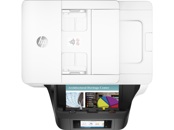 HP OfficeJet Pro 8740 All-in-One Printer - Top view closed