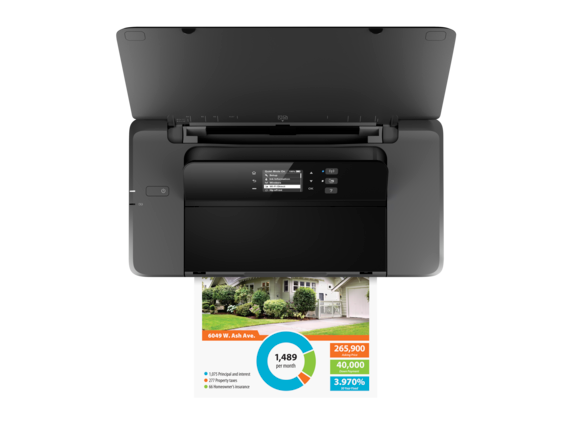 HP OfficeJet 200 Mobile Printer - Top view closed