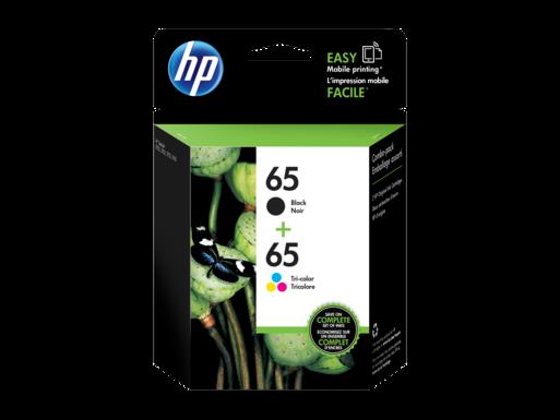 HP 65 2-pack Black/Tri-color Original Ink Cartridges