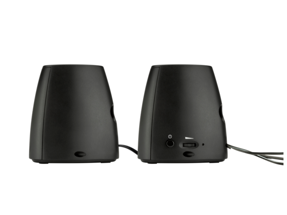 HP S3100 Black USB Speaker - Rear