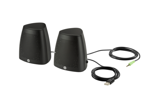 HP S3100 Black USB Speaker - Left