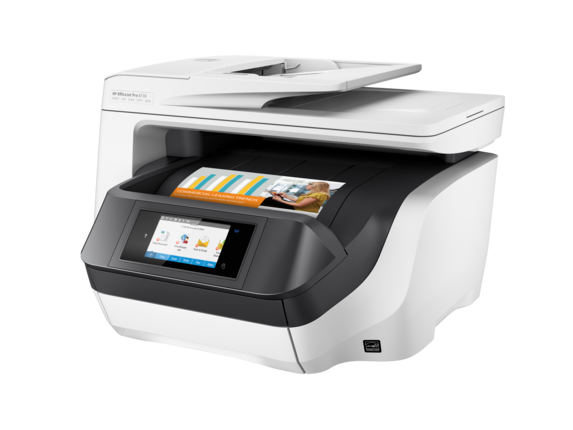 HP OfficeJet Pro 8730 All-in-One Printer - Left