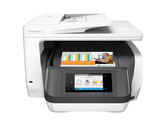 HP OfficeJet Pro 8730 All-in-One Printer - Center