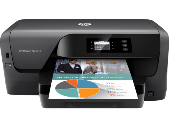 HP OfficeJet Pro 8210 Printer - Center