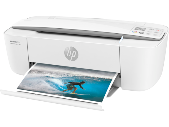 HP DeskJet 3755 All-in-One Printer - Left