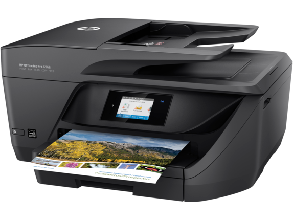 HP OfficeJet Pro 6968 All-in-One Printer - Left