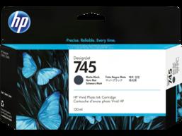 HP 745 130-ml DesignJet Matte Black Ink Cartridge