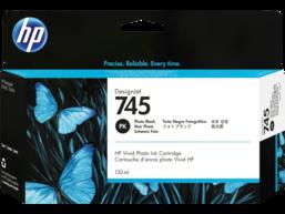 HP 745 130-ml DesignJet Photo Black Ink Cartridge