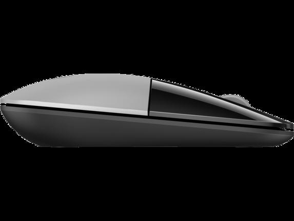 HP Z3700 Silver Wireless Mouse - Right profile closed
