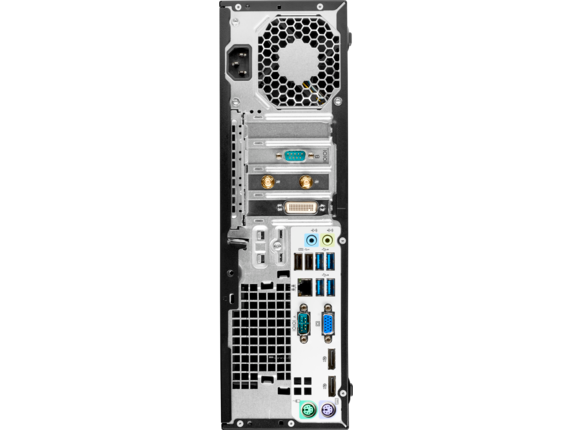 HP EliteDesk 705 G3 Small Form Factor PC - Rear open