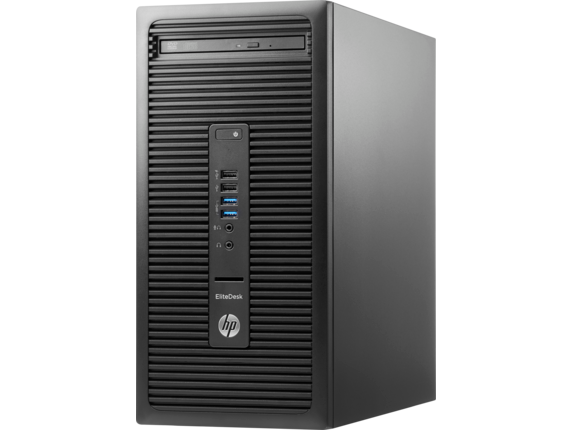 HP EliteDesk 705 G3 Microtower PC - Customizable - Left