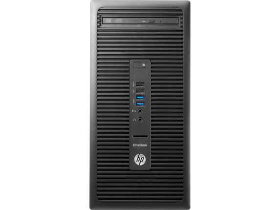 HP EliteDesk 705 G3 Microtower PC - Center