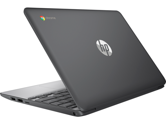 HP Chromebook - 11-v010nr (ENERGY STAR) - Left rear
