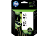 HP 63 2-pack Black Original Ink Cartridges
