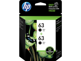 HP 63 2-pack Black Original Ink Cartridges, T0A53AN#140