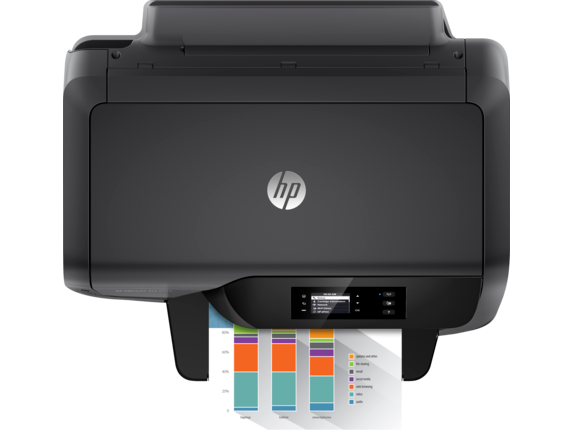 HP OfficeJet Pro 8216 Printer - Top view closed