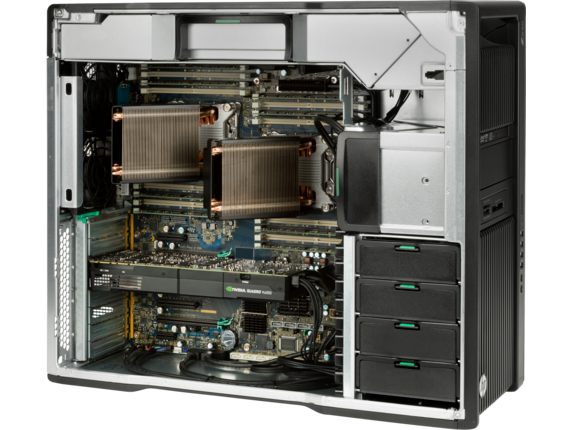 HP Z840 Workstation - Dual Xeon for Pro Rendering - Right rear