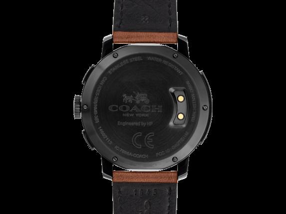 Coach Bleecker Smart Watch - Saddle Strap - Rear