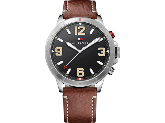 Tommy Hilfiger TH24/7 Smart Watch - Stainless Brown Strap - Center