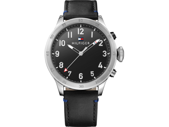 Tommy Hilfiger TH24/7 Smart Watch - Stainless Black Strap - Center