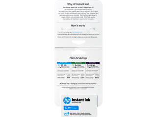 HP Instant Ink Enrollment Card - 50 page plan - Img_Detail view_320_240
