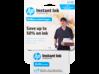 HP Instant Ink Enrollment Card - 50 page plan - Center