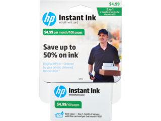 HP Instant Ink Enrollment Card - 100 page plan - Img_Center_320_240