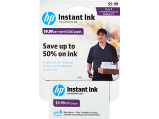 HP Instant Ink Enrollment Card - 300 page plan - Img_Center_320_240