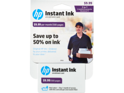 HP Instant Ink Enrollment Card - 300 page plan