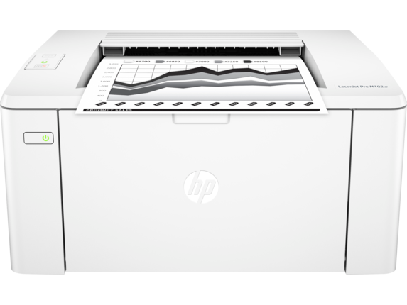 HP LaserJet Pro M102w Printer - Center