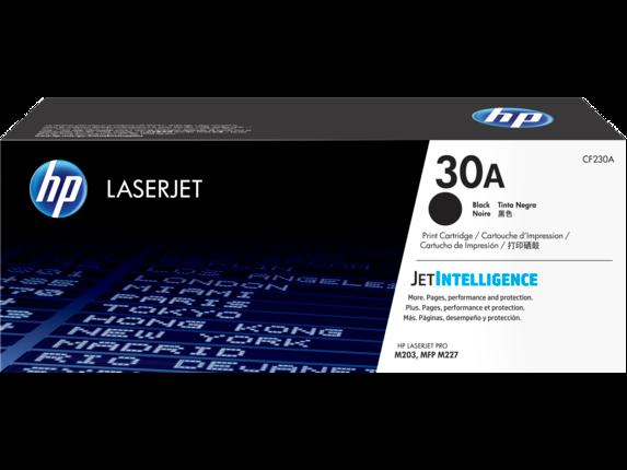 HP 30A Black Original LaserJet Toner Cartridge, CF230A - Center