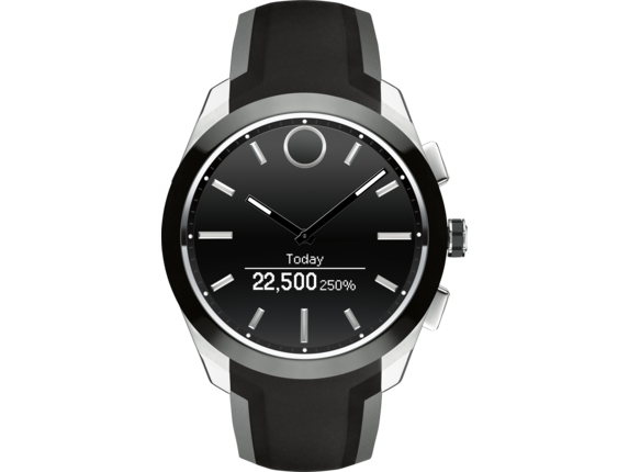 Movado Bold Connected II - Steel/Black Strap - Right
