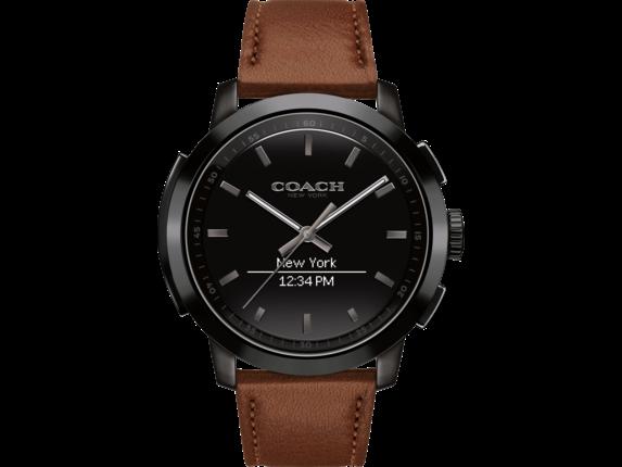Coach Bleecker Smart Watch - Saddle Strap - Right rear