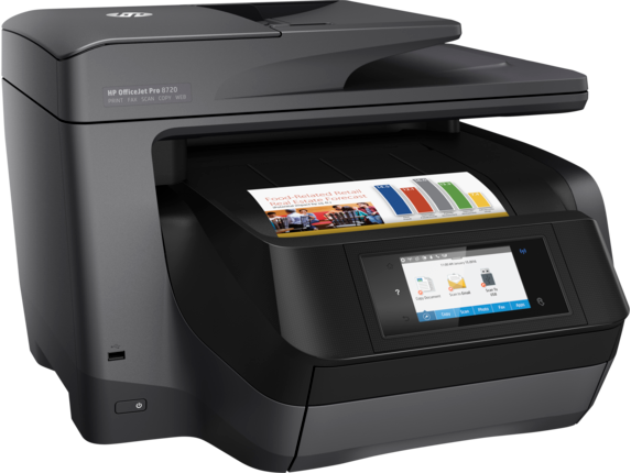 HP OfficeJet Pro 8720 All-in-One Printer - Right