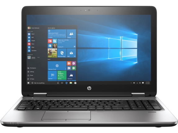 HP ProBook 650 G3 Notebook PC (ENERGY STAR) - Center