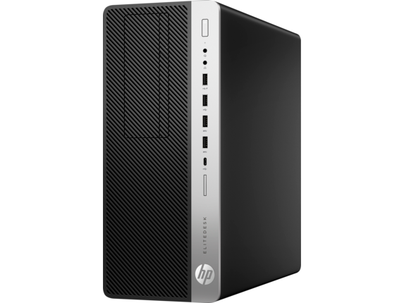 HP EliteDesk 800 G3 Tower PC (ENERGY STAR) - Left