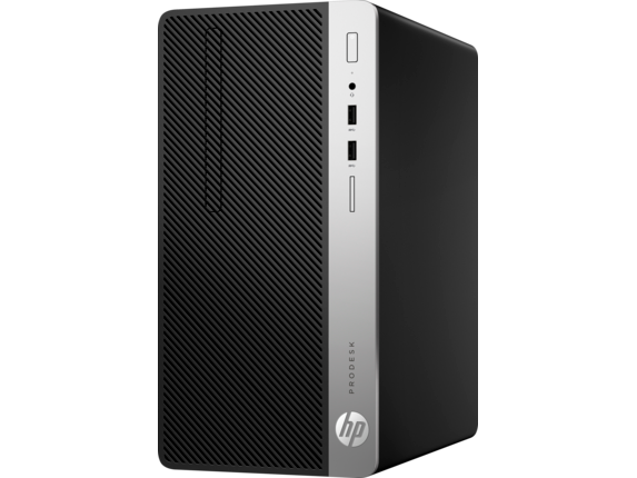 HP ProDesk 400 G4 Microtower PC - Customizable - Left