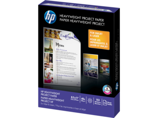 HP 40-lb Heavyweight Project Paper/250 sht/Letter/8.5 x 11 in