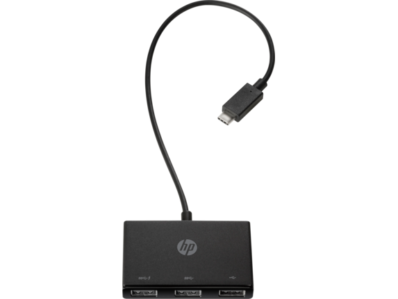 HP USB-C to USB-A Hub - Top view closed