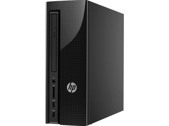 HP Slimline Desktop - 270-p025xt + Speaker System Bundle - Left