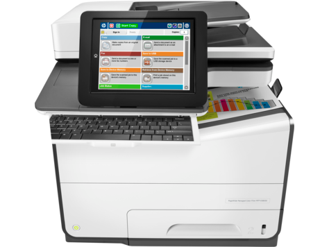 HP PageWide Managed Color MFP 586-serien