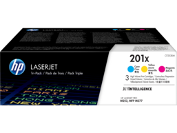 HP 201X 3-pack High Yield Cyan/Magenta/Yellow Original LaserJet Toner Cartridges