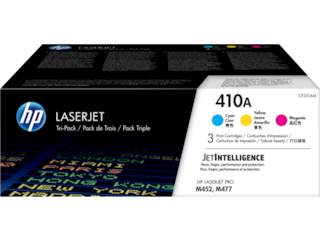 HP 410A 3-pack Cyan/Magenta/Yellow Original LaserJet Toner Cartridges, CF251AM