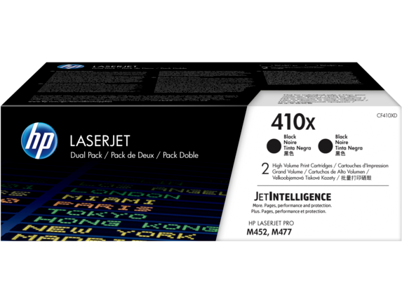 HP 410X 2-pack High Yield Black Original LaserJet Toner Cartridges