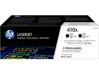 HP 410X 2-pack High Yield Black Original LaserJet Toner Cartridges, CF410XD