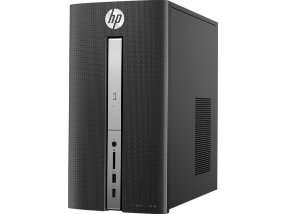 HP Pavilion Desktop - 570-p035t - Left