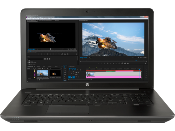HP ZBook 17 G4 Workstation - Quadro P4000 for Virtual Reality - Center